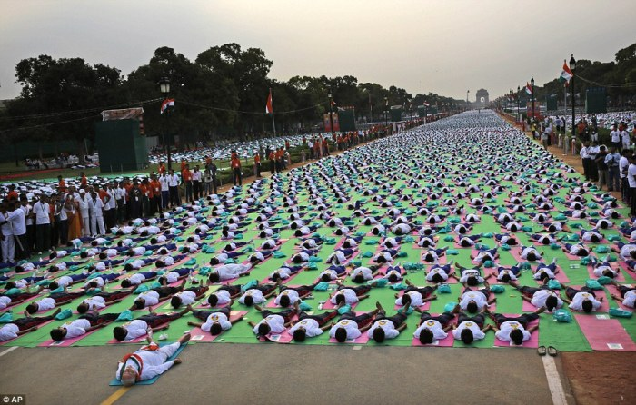 Millions of people rolled out their mats across the globe to take part in the ancient practice