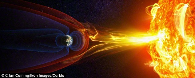 Earth's protective shield is slowly weakening, allowing harmful solar winds to penetrate the atmosphere