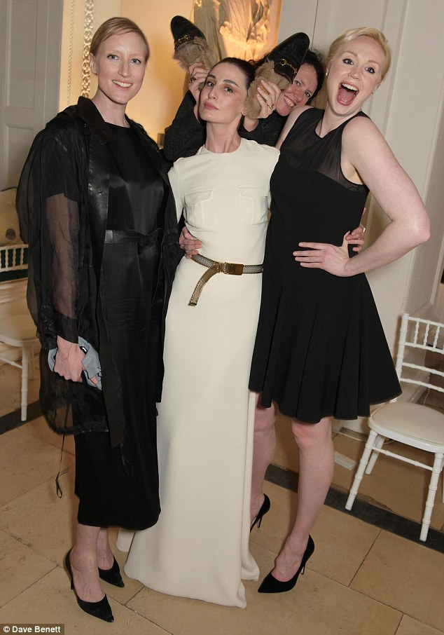 Gwendoline Christie And Jessica Chastain At Pre Wimbledon