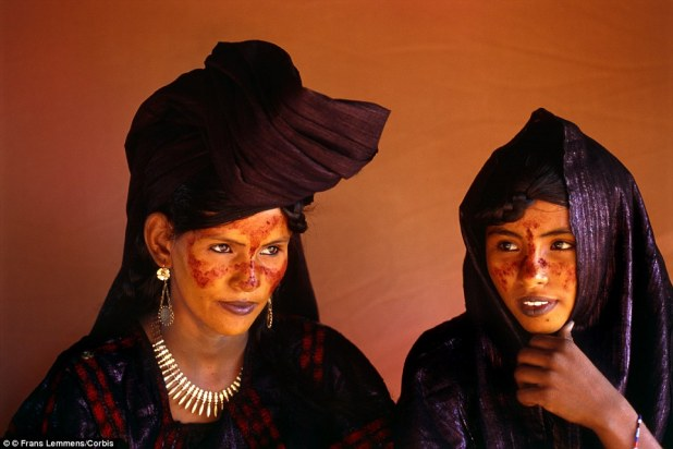 Class system: Tuareg women pictured in Niger. The Tuareg are divided into castes, with the nobles at the top and peasants at the bottom