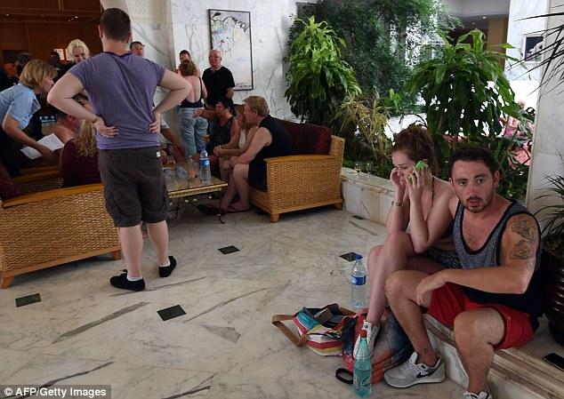 Safety: Terrified tourists are holed up inside the Imperial hotel in the resort town of Sousse, a popular tourist destination 90 miles south of the Tunisian capita