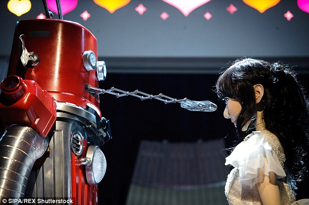 Two robots have tied the knot in Japan in what is thought to be the first wedding of its kind in the world