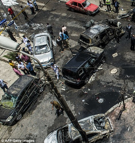 The attack appears to have taken place on the corner of the street, targeting the convoy at its most vulnerable position