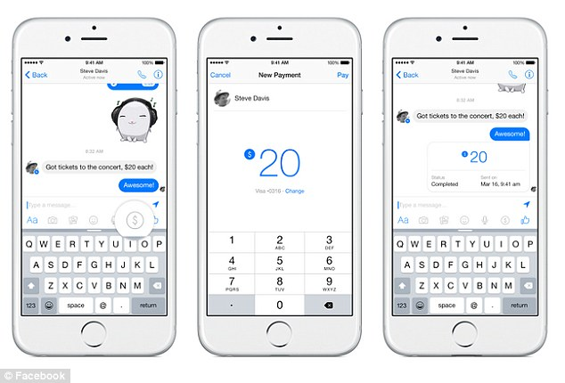 Facebook messenger can now send money from PayPal