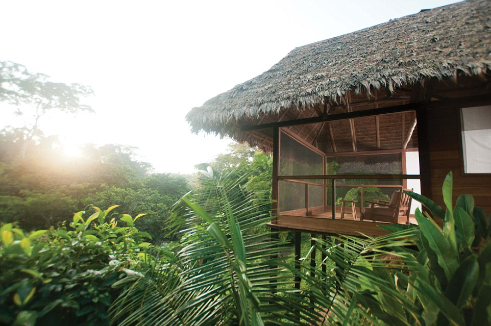 Sheltered by an intricate forest canopy, the screened-in cabanas of Inkaterra Hacienda Concepción reveal the sights, sounds and scents of the Amazon Rain Forest