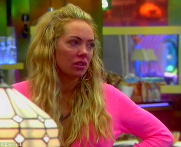 Confrontation: Tempers once again flared as Aisleyne Horgan-Wallace and Marc O'Neil confronted each other in the Big Brother house on Wednesday evening