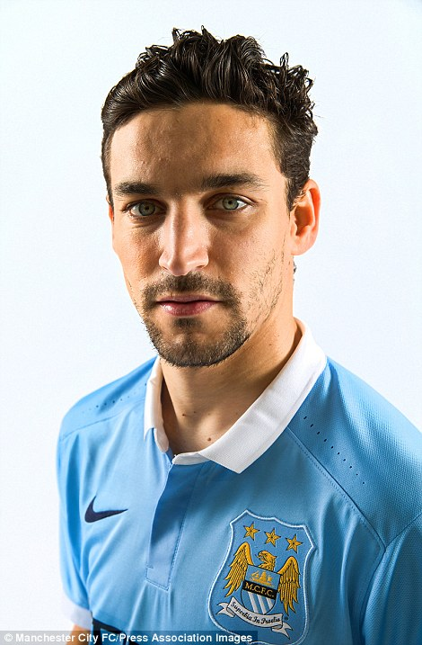 Jesus Navas stares into the camera