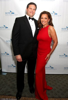 Just married: Vanessa Williams wed partner of three years, Jim Skrip, (pictured in April 2013) on Saturday