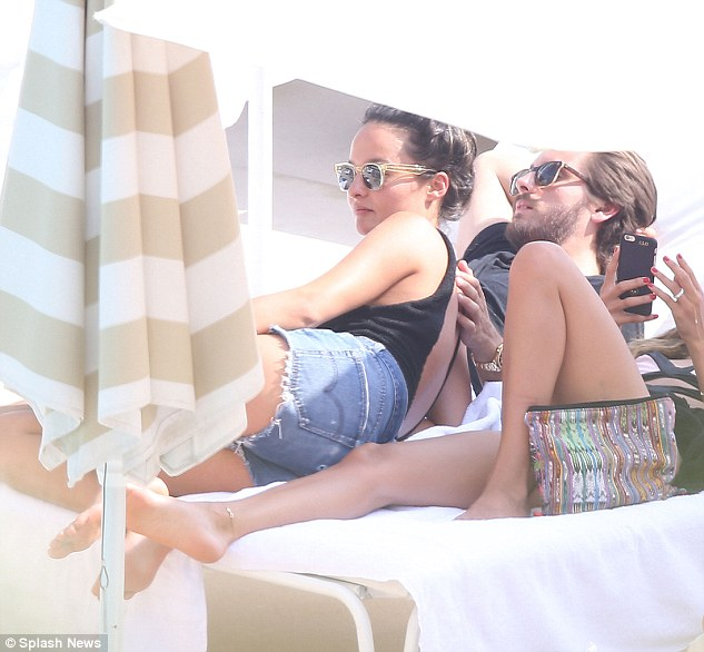 Getting cosy:On Thursday, DailyMail.com exclusively revealed Scott was in Monte Carlo with fashion stylist Chloe Bartoli