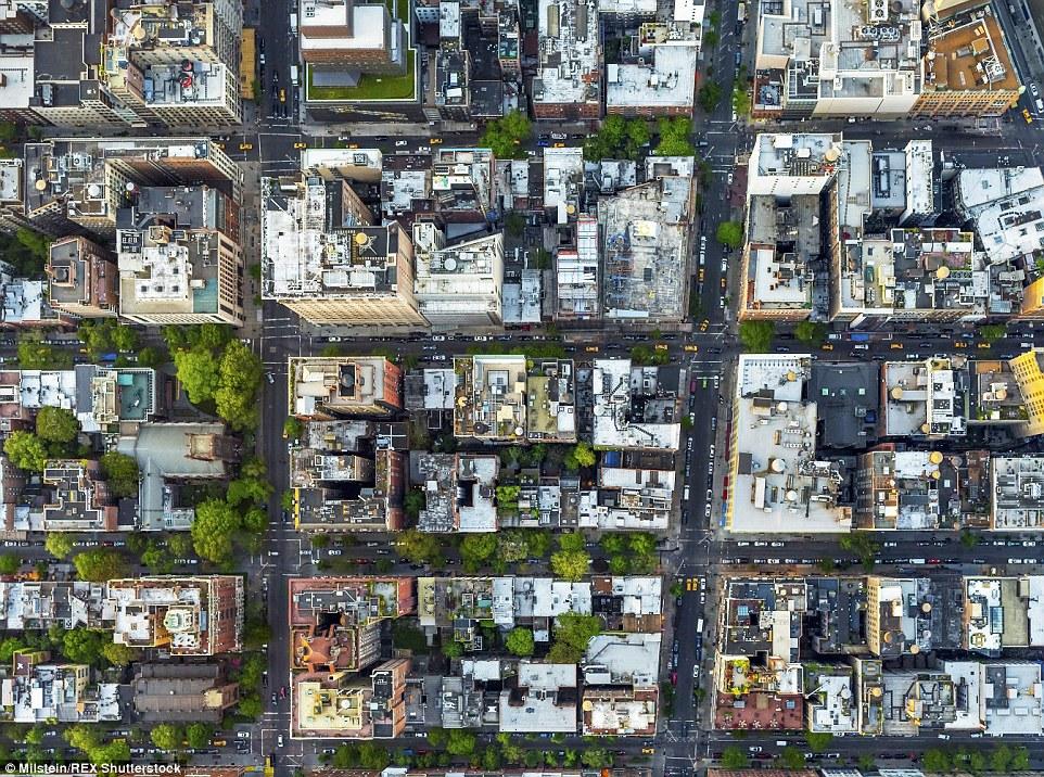 Greenwich Village: Embora este bairro exclusivo é todos os altos edifícios de tijolos vermelhos da rua, a partir de cima que aparece como uma selva de concreto densa pontilhada com árvores