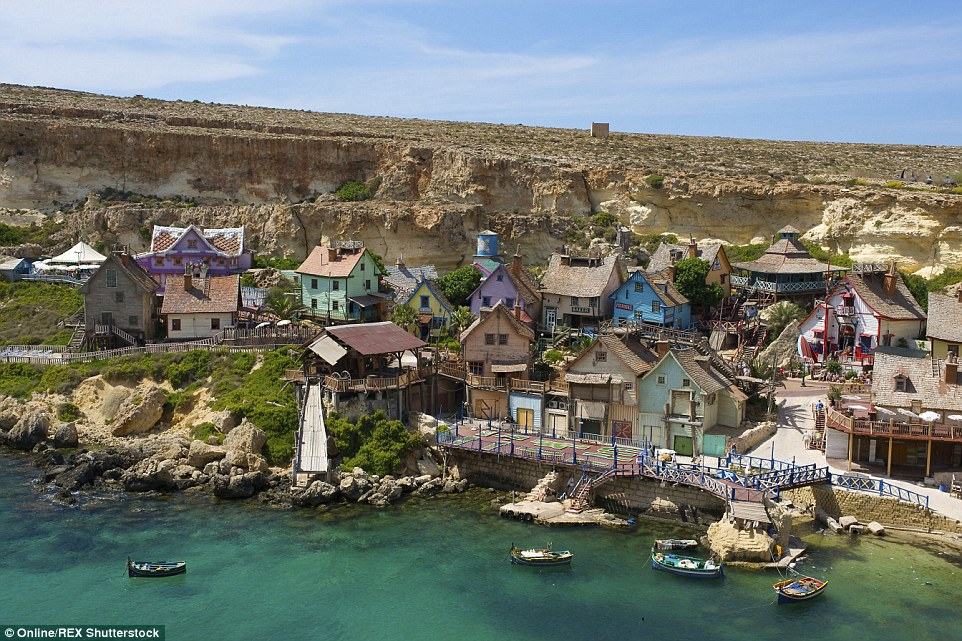 The 1980 live-action movie musical, Popeye, which starred Robin Williams, and was filmed just two miles from Mellieha, Malta