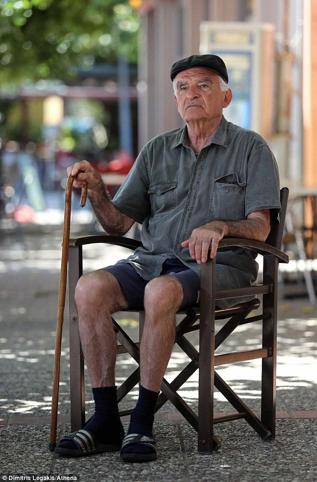 Struggle: Argyris Sfountouris, 75, told MailOnline that the