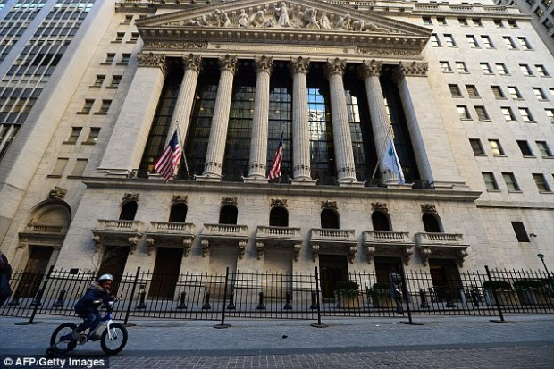 The New York Stock Exchange is currently halting all trading, for reasons not yet announced. Above, a view of the stock exchange on March 5, 2013