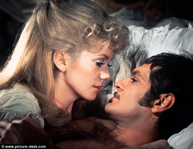 Sharif, pictured with Catherine Deneuve in Mayerling (1969), eventually gave up on acting, becoming a world-class bridge player and largely devoting time to gambling instead. 'I'd rather be playing bridge than making a bad movie,' he said