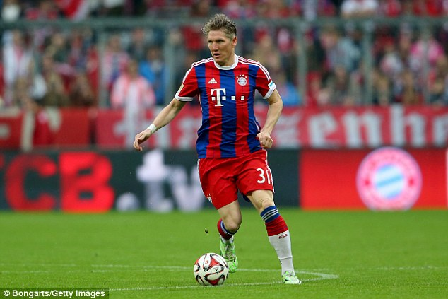 Bastian Schweinsteiger is set to complete a move from Bayern Munich to Manchester United
