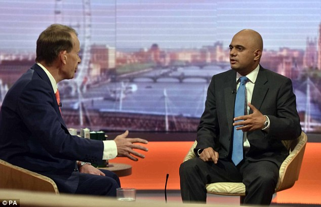 Appearing on BBC One's Andrew Marr Show, Mr Javid stressed that there was no barrier to being both a Muslim and a patriotic Briton