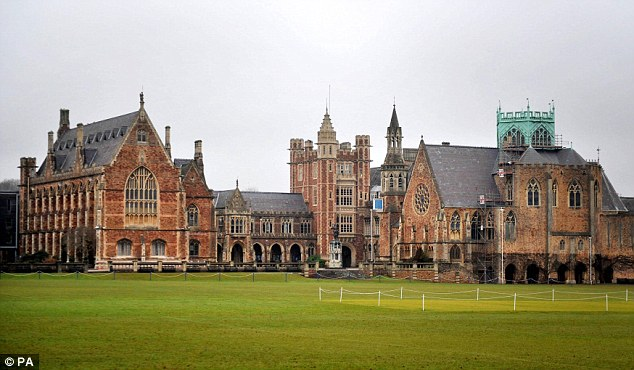 Thomson-Glover taught at the prestigious £30,000-a-year Clifton College in Bristol (pictured) for 31 years