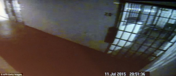Joaquin 'El Chapo' Guzman seen on CCTV in his cell minutes ...
