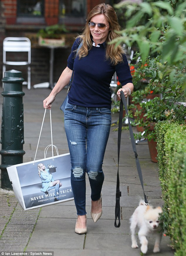 New release: Geri spent some six hours in the recording studio in London last week, before leaving in the early evening with her beloved dog Daddy