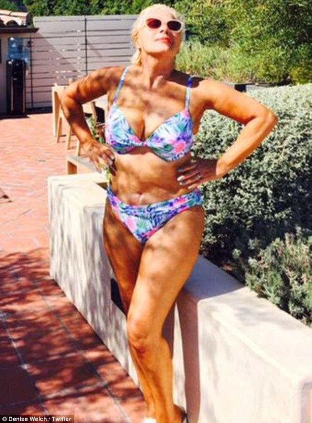 Denise Welch Takes Pictures Of Bodybuilders On Venice