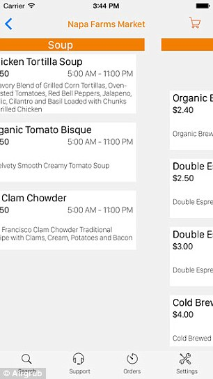 AirGrub allows user to order their airport food weeks in advance