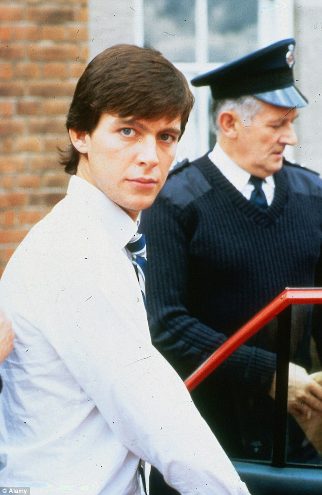 Stare of a killer: Jeremy Bamber after his arrest for the murders in 1985