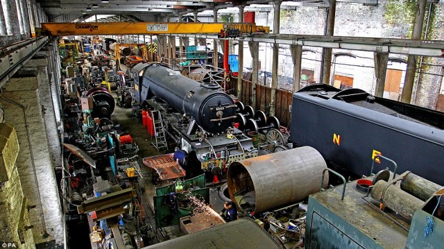 The iconic locomotive has been out of action since 2005 when a period of restoration work started on the train