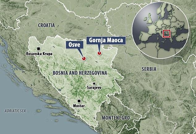 Terrenos en Osve, Bosnia-Herzegovina, está siendo comprado por los combatientes ISIS.  El descubrimiento se produce después de que el pueblo de montaña de Gornja Maoca en el país fue allanada por la policía
