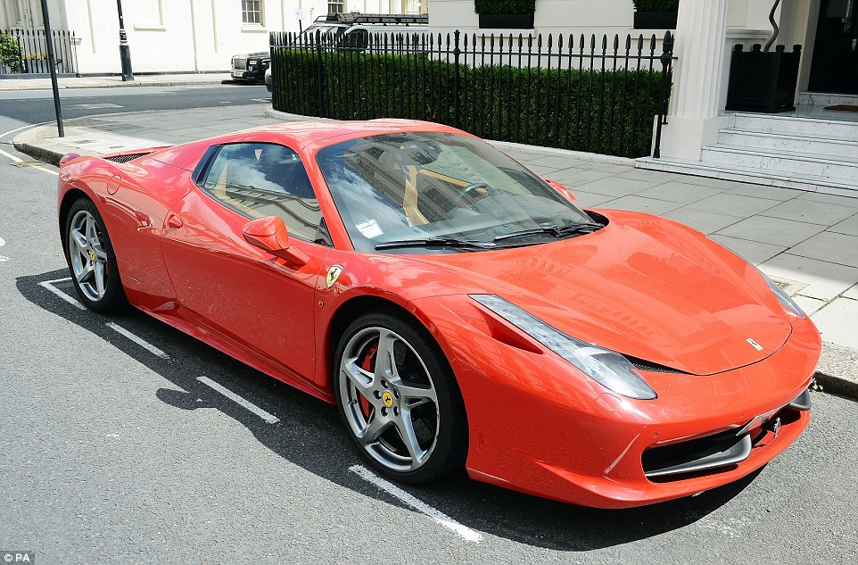 Tourists and locals have expressed wonder at the sheer number of supercars which flood the city's streets each summer. Pictured: Ferrari 458