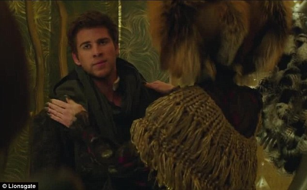 Finale: 'We've got one shot,' Katniss says to Liam Hemsworth's Gale Hawthorne, to which he replies: 'Let's make it count'