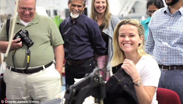 'Made with love' On Thursday Reese Witherspoon shared a video of her trip to Blue Ridge, Georgia where she visited a factory that produces jeans for Draper James