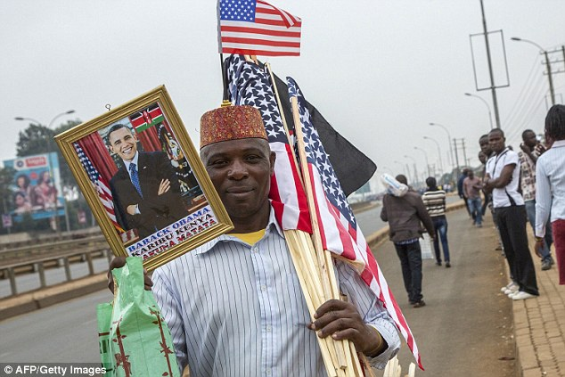 Commemorative: Obama's trip to Kenya had some residents so thrilled they named their new babies after the president...and his official plane