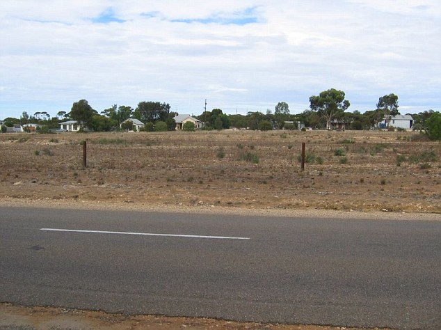 The skeleton of the murdered girl was found in a suitcase dumped on the Karoonda Highway near Wynarka (above), a tiny railway siding township 120km south-east of Adelaide, lying on the truck route between the South Australian grain belt and Port Adelaide