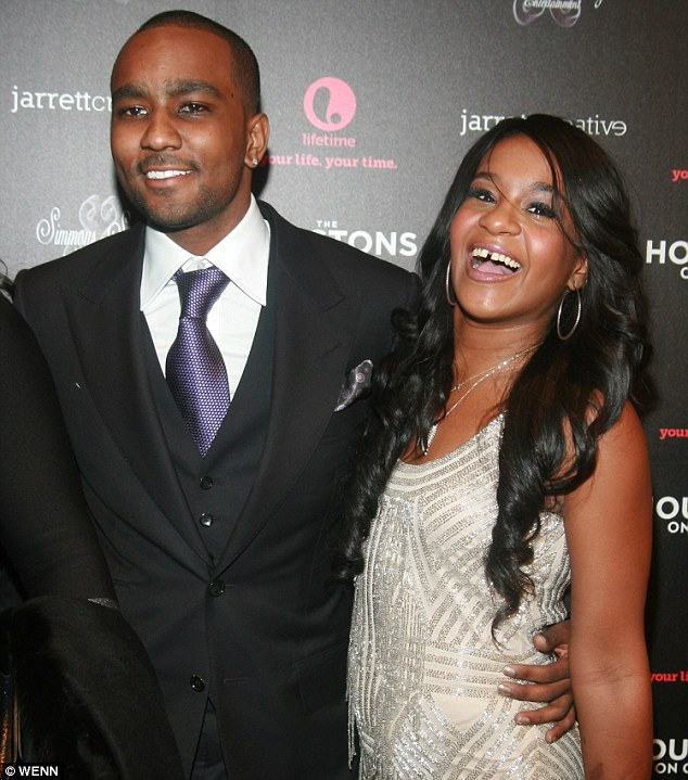 Nick Gordon with Bobbi Kristina Brown. He has reportedly begged her father Bobby Brown for an invite to her funeral on Saturday