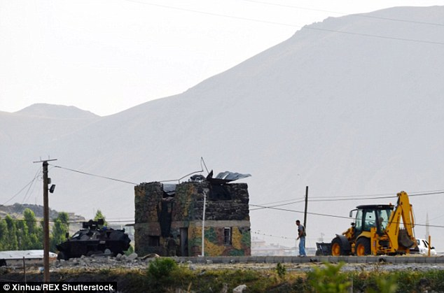 The military outpost was damaged in the bombing, which is the latest in a string of attacks which have increased after Turkey bombed Kurdish targets in northern Iraq
