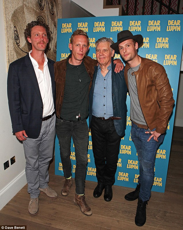 Handsome chaps: The Fox family were out in force on Monday night as they celebrated James and Jack's earlier performance in stage show Dear Lupin