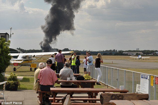 The Saudi-registered Phenom 300 jet was attempting to land at Blackbushe Airport when it crashed