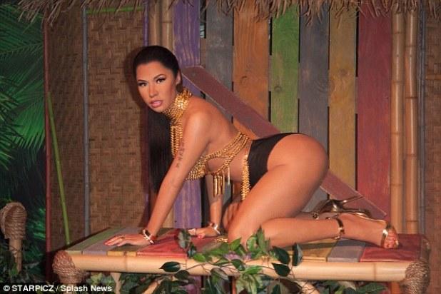 Lifelike: A new wax figure of Nicki Minaj debuted at Madame Tussauds Wax Museum in Las Vegas on Tuesday