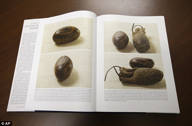 Thee Mormon church for the first time is publishing photos of a small sacred stone it believes founder Joseph Smith used to help translate the story that became the basis of the religion