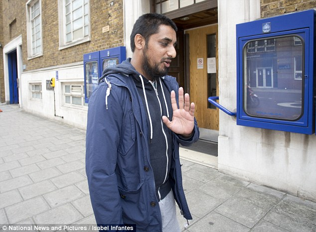 Mohammed Mizanur Rahman, 32, from east London, (pictured arriving at Southwark police station to answer bail today), has also been charged with supporting ISIS during the same dates