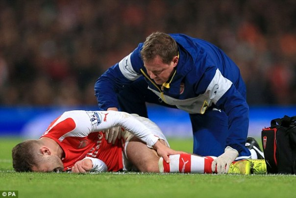 Wilshere missed much of last season after suffering an ankle injury in the defeat to Manchester United