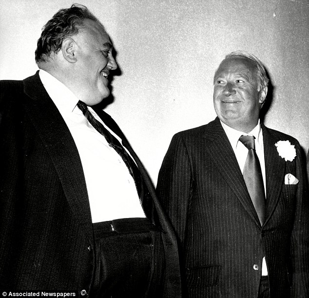 Sir Edward (pictured with Cyril Smith) will become the first former PM to be the subject of an national investigation of this kind. The probe into claims against him will be led by either Kent, Wiltshire or Hampshire