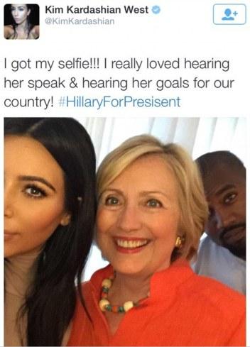 Kimye Supports Hillary