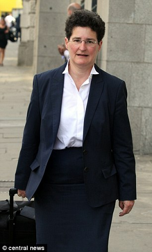 Clare Montgomery QC, pictured today, who defended General Pinochet, is prosecuting the case