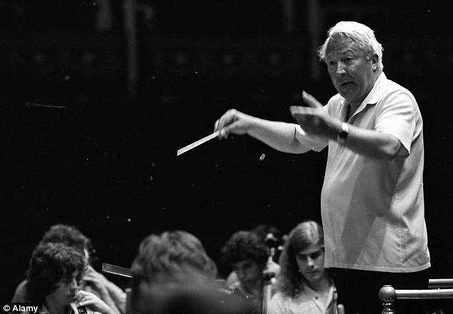 Heath the musician: Rehearsing the 107 strong European Community Youth Orchestra at the Royal Albert Hall