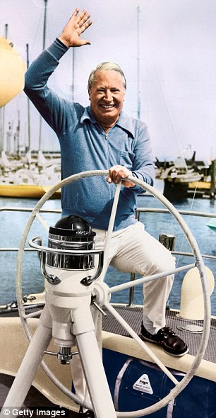 Ocean wave: At the helm of his yacht Morning Cloud in 1975, months after being ousted as Tory leader