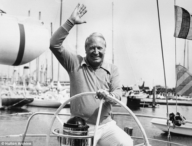 Allegations: Former Prime Minister Edward Heath relaxes on his yacht, Morning Cloud, in 1975