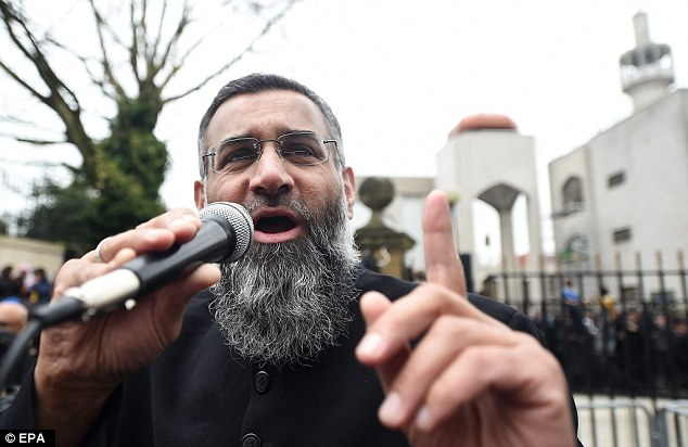 The government's continual battle against radical clerics comes after it emerged this week that Anjem Choudary (pictured) has been charged with 'inviting support for ISIS'