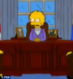 Last, best hope: In the old Simpsons episode, Lisa Simpson is elected to succeed Trump in the White House - and inherits an unmanageable level of national debt