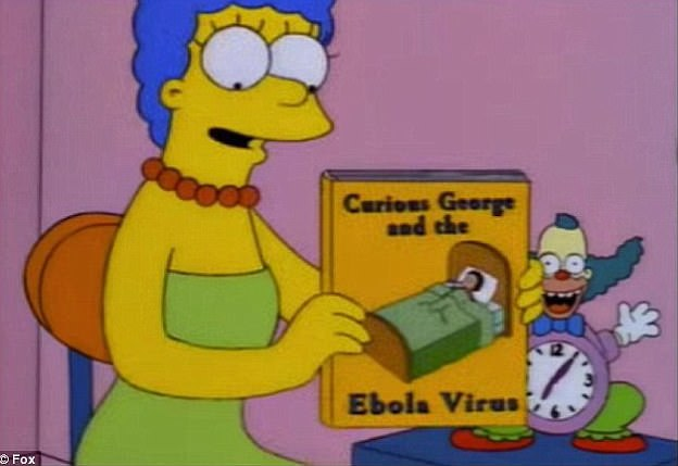 Uncanny: In a 1997 episode of The Simpsons, the show's creators appear to hint at the recent African Ebola epidemic